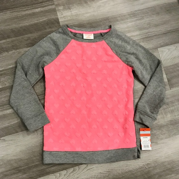 Cat & Jack Other - Valentine's Little Girls Heart Crewneck Sweater